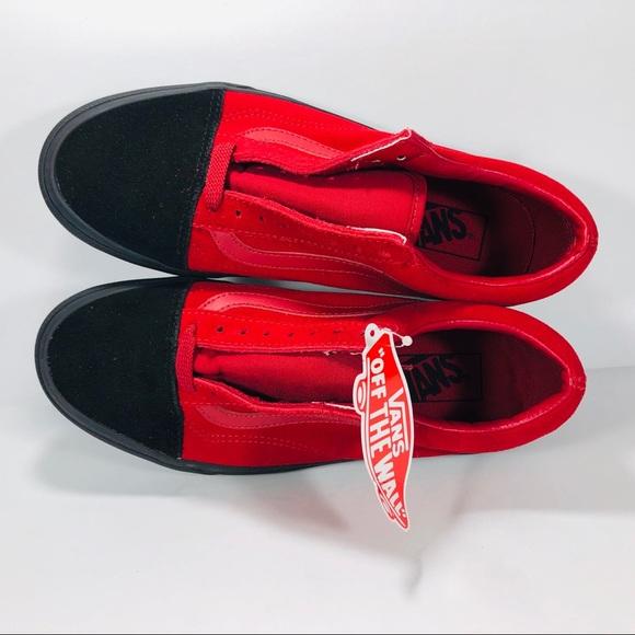 2a9ca857 Vans Old Skool Native Suede Red & Black Sneakers NWT